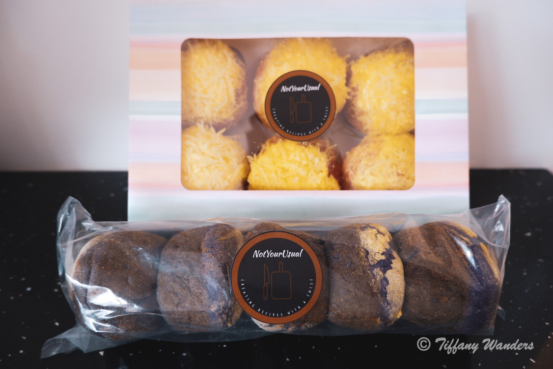 Not Your Usual's Ube Cheese Pandesal and Ensaymada